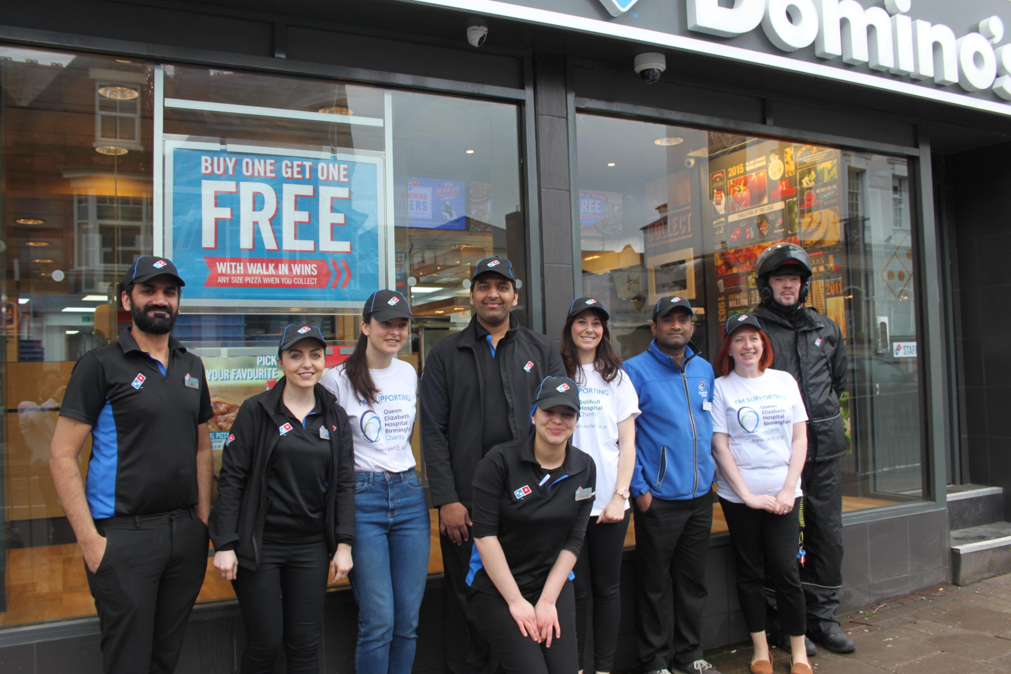 Dominos In Birmingham Commits To Supporting Patients