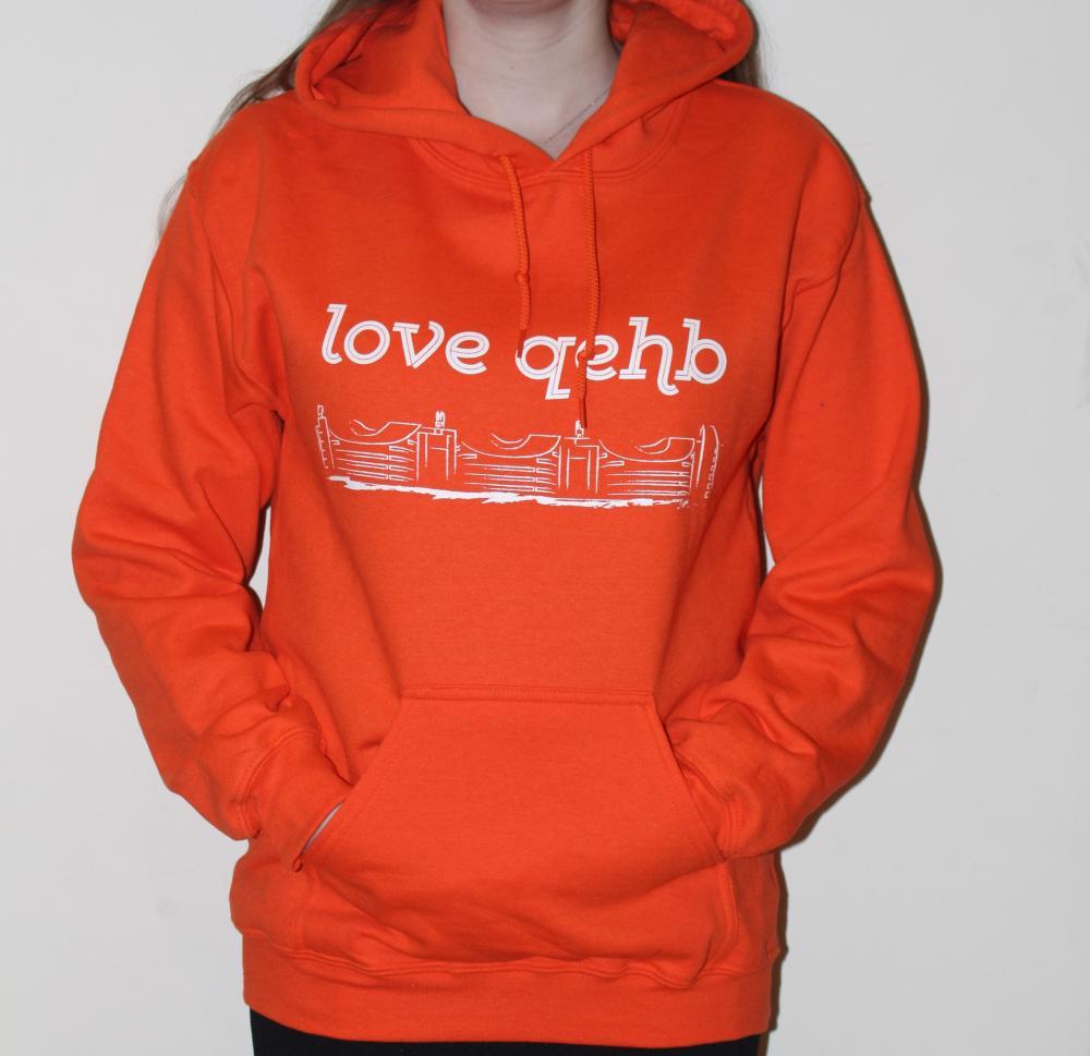 Small Orange LoveQEHB Hoodie