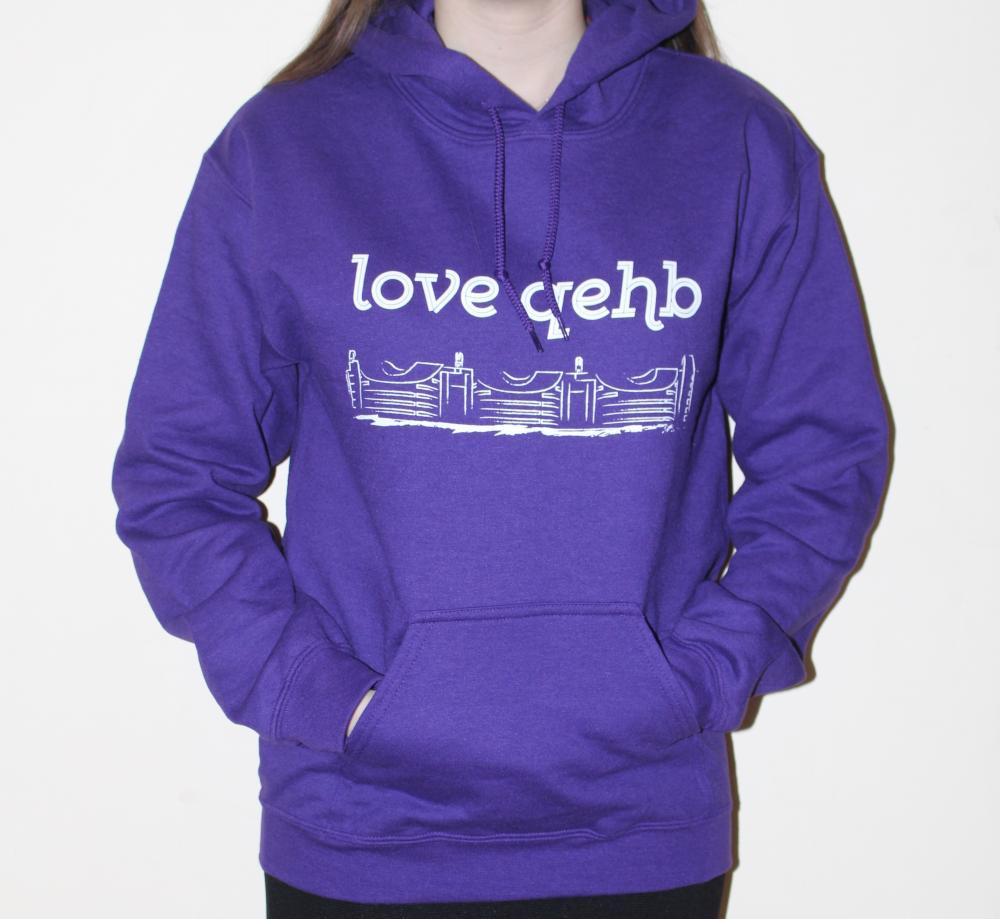Small Purple LoveQEHB Hoodie