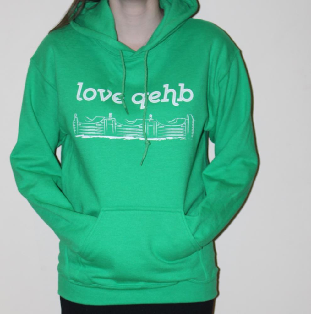 Small Green LoveQEHB Hoodie