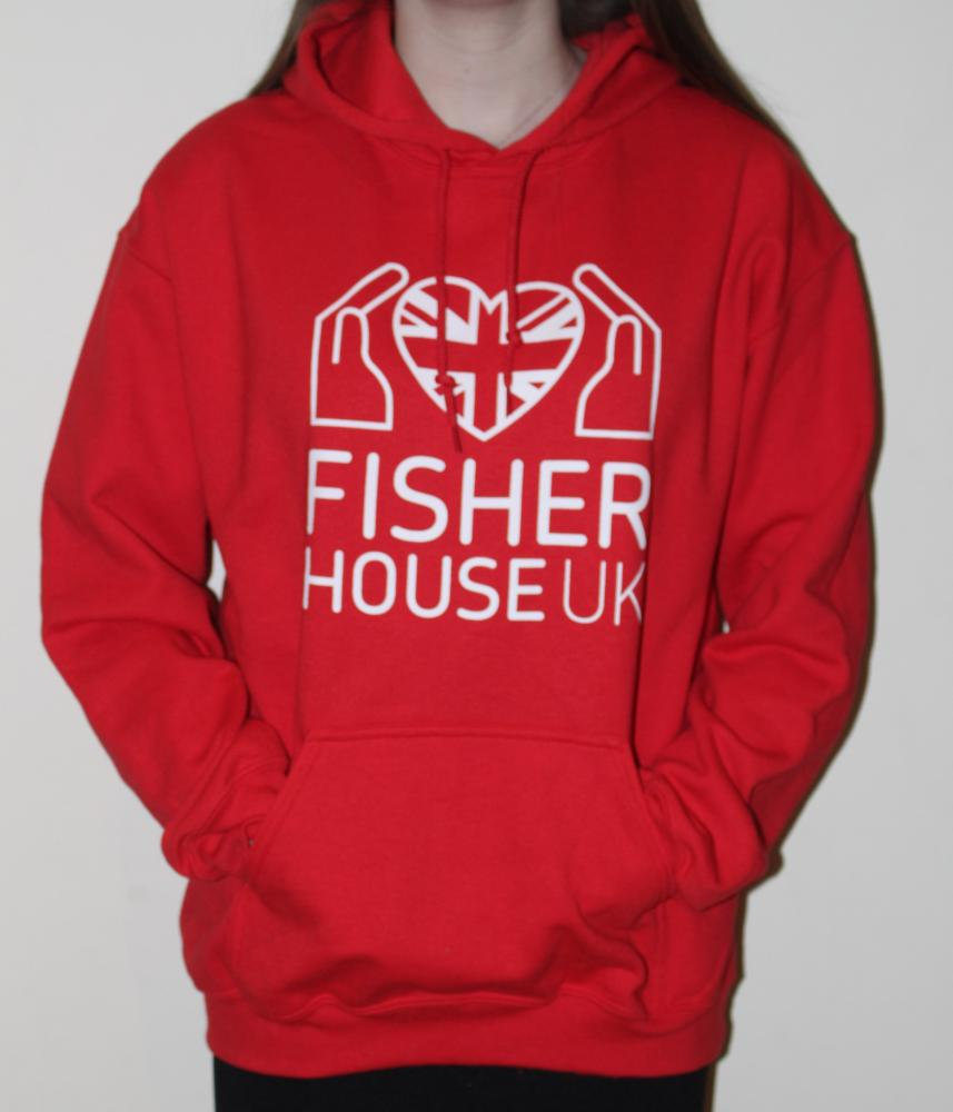 Small Red Fisher House Hoodie