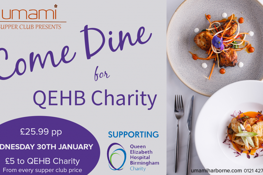Come Dine for QEHB Charity at Umami Harborne 58a1b98d9