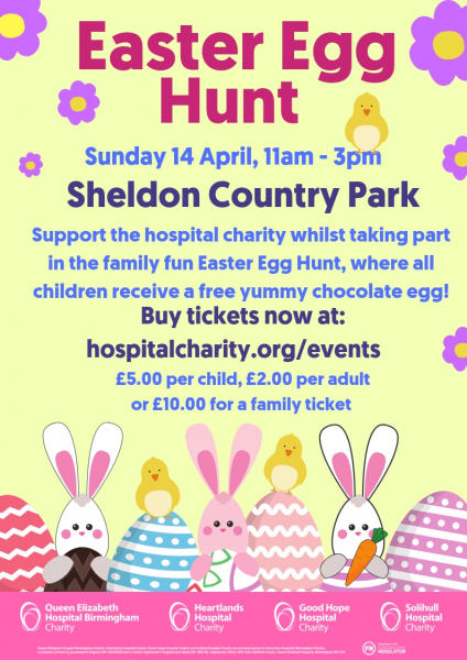 Join the hospital charity for an Easter Egg Hunt and Family-fun day on  Sunday 14 April! e4c9f3887
